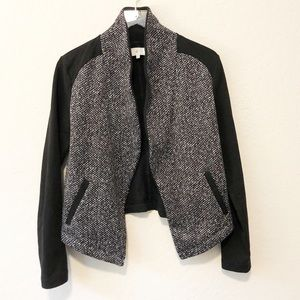 LOU & GREY relaxed tweed front blazer